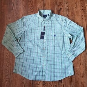 Chaps Plaid Button-up L/S Shirt Size XXL